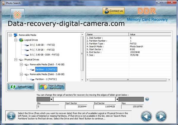Memory Card Photos Recovery retrieves folders