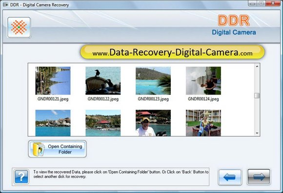 Recover Camera screen shot