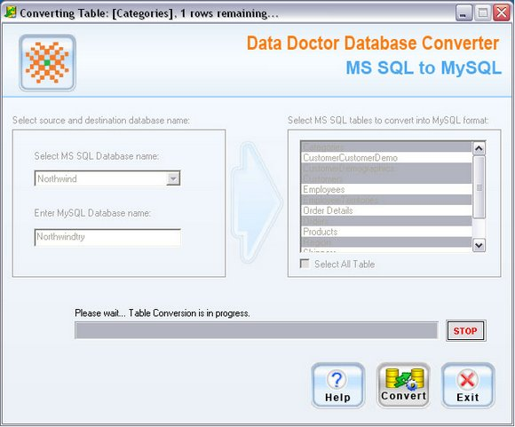MS SQL to MySQL DB Converter
